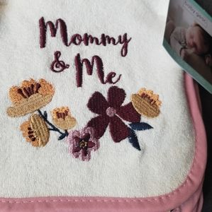 Mommy & Me Floral Burp Cloths